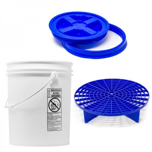 Autopflege Wascheimer Komplettset Blau