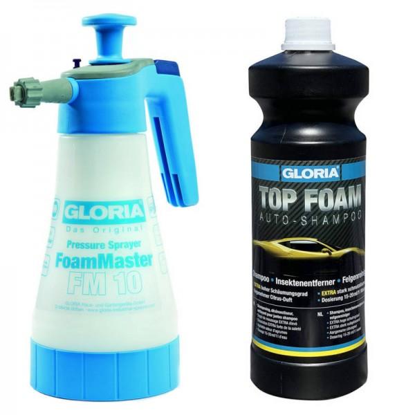 Gloria Snow Foam Set - FM10 + Top Foam Autoshampoo 1L