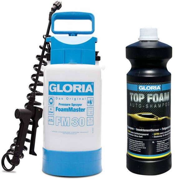 Gloria Snow Foam Set - FM30 + Top Foam Autoshampoo 1L