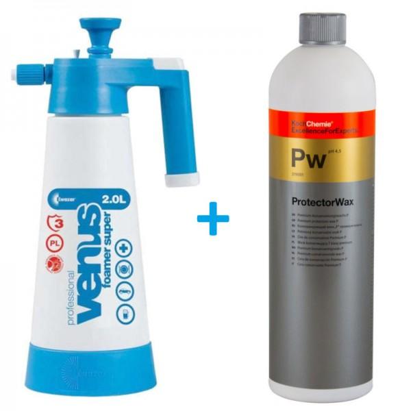 Koch Chemie Protector Wax + Kwazar Schaumsprüher Set