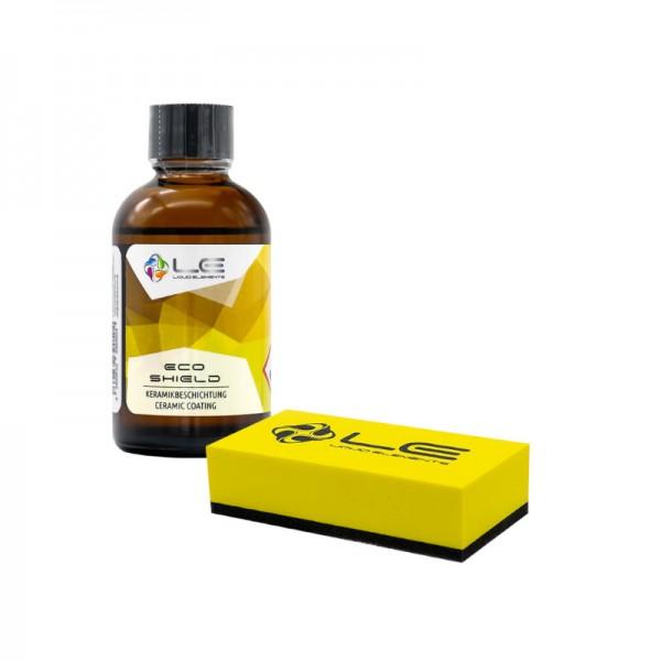 Liquid Elements ECO Shield Keramik-Beschichtung + Applikatorblock gelb