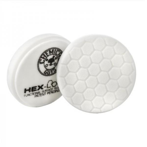 Chemical Guys HEX Logic Medium Polishing Pad 75mm Weiß